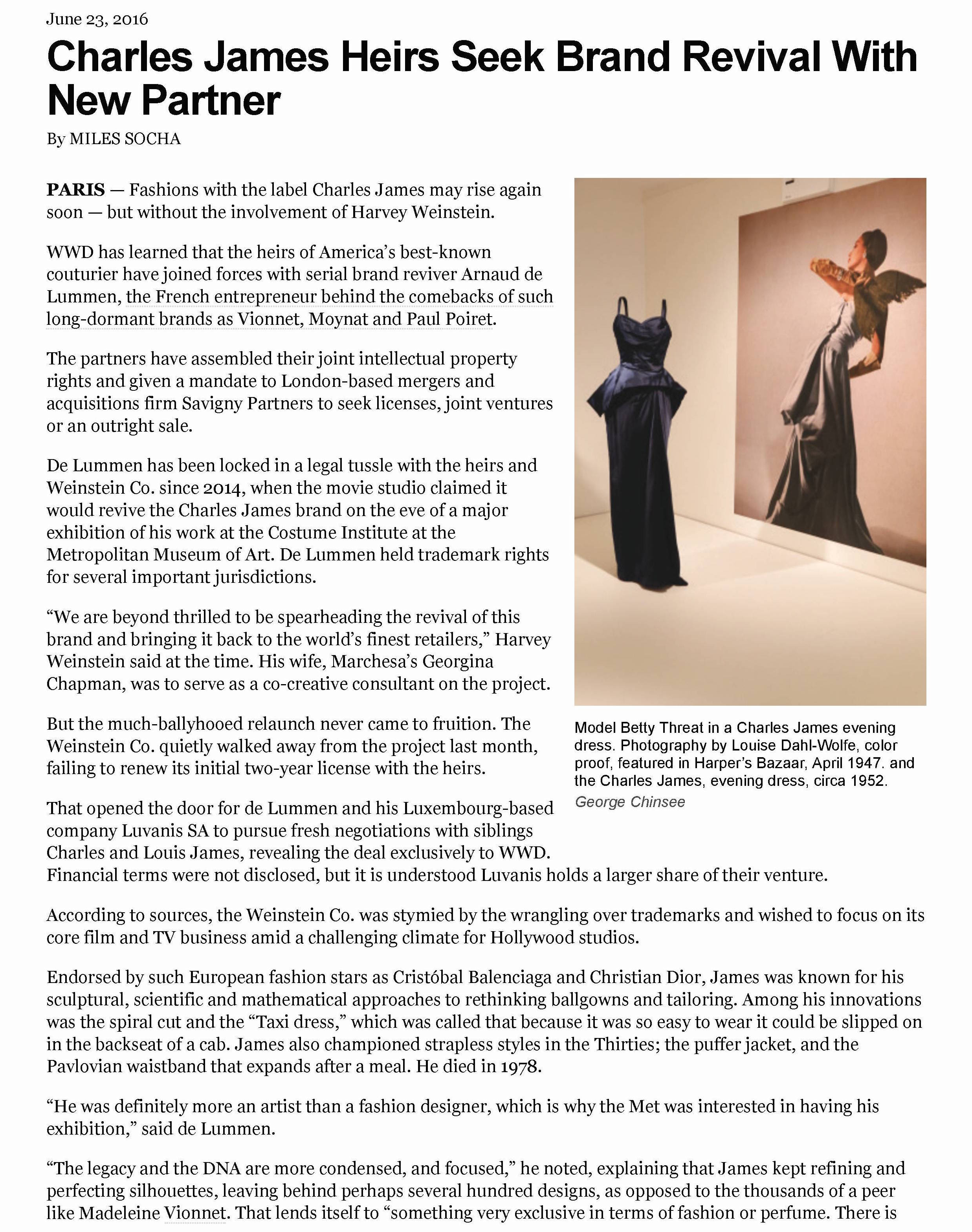WWD Savigny Partners Charles James 1